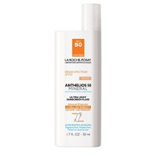 La Roche-Posay Anthelios 50 Mineral Tinted Ultra-Light Tinted Sunscreen Fluid for Face, Water Resistant with SPF 50, 1.7 Fl.