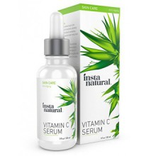InstaNatural Vitamin C Serum with Hyaluronic Acid & Vit E - Natural & Organic Anti Wrinkle Eraser Formula for Face - Dark