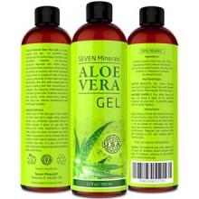 Aloe Vera GEL - 99% Bio 12 oz - NO XANTHANE, il absorbe rapidement avec aucun résidu collant - VOIR LES RÉSULTATS OU REMBOURSEME