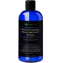 Antifungal Body & Foot Wash, 100% Natural Fungal Soap, Kills Bacteria, Athletes Foot, By Premium Nature