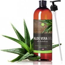 Gel d'Aloe Vera bio pour le visage, les cheveux, la peau - 12 Oz - Certifié Pur