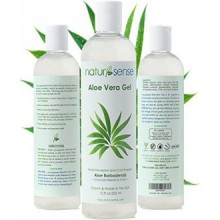 Organic Aloe Vera Gel Great for Face, Hair, Sunburn, Acne, Razor Bumps, Psoriasis, Eczema.