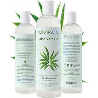 Organic Aloe Vera Gel Great for Face, Hair, Sunburn, Acne, Razor Bumps, Psoriasis, Eczema.
