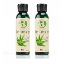 Aloe Vera Gel - 99.75% Pure, Cold Pressed, Organic Aloe Vera Skin Care - Two 4oz Bottles - For All Types of Skin and Hair -