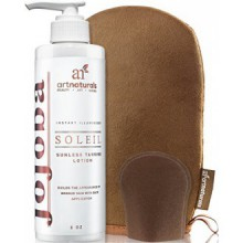Art Naturals Self Tanner Sunless Tanning Lotion Set w/ Mitt 8oz- Creates a Buildable Bronze & Golden Tan w/ Each Application