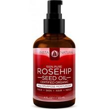 InstaNatural Orgánica Aceite de semillas de rosa mosqueta - 100% puro y sin refinar aceite virgen - Crema hidratante natural par