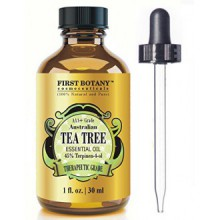 100% Pure Australian Tea Tree Essential Oil with 45% Terpinen-4-ol, 1 fl. oz. A Known Solution to Help in Fighting Acne,