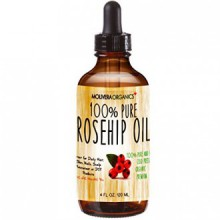Molivera Organics Rosehip Oil 4 Fl Oz. 100% Pure Premium Organic Cold Pressed Virgin Rosehip Seed Oil -Best for Hair, Skin,