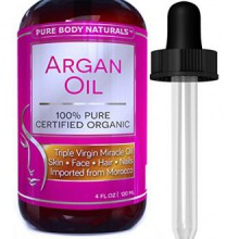 Aceite de argán puro Naturals cuerpo orgánico de la piel, cara, pelo y uñas, 4 fl. onz.