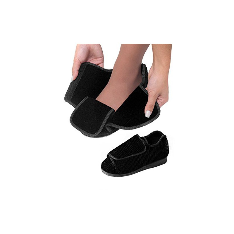 321d1a0747aaa Womens Extra Extra Wide Width Adjustable Slippers -