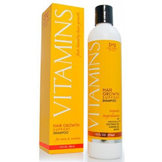 Vitamins Hair Loss Shampoo - 121% Regrowth and 47% Less Thinning - With DHT Blockers and Biotin for Hair Growth - 2 Month