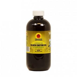 Tropic Isle Jamaican Noir Castor Oil 8 oz avec un applicateur, Big Sale !! - Safe Pet Bottle Packaing