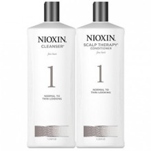 Nioxin System 1 Cleanser & Scalp Therapy DUO Set (33,8 oz) chacune