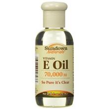 Sundown Huile de vitamine E 70000 UI, 2,5 onces liquides