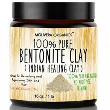Molivera Organics argile bentonite pour détoxifiant et rajeunissants et des cheveux, 16 onces.