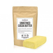 Unrefined Cocoa Butter - Raw, 100% Pure with Natural Cocoa Scent - Use in DIY Lotion, Lotion Bars and Sticks, Lip Balm, Body