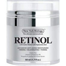 Retinol Cream Moisturizer with Hyaluronic Acid - Daily Moisturizing Cream Helps Fight Signs of Aging and Get Rid of Wrinkles