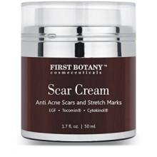 Crème Scar & Epidermal Crème Réparatrice 1.7 Oz. Avec EGF Nobel prisé et Ginseng indien qui réduit l'apparence des