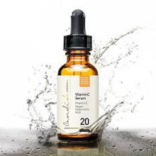 Meilleur sérum de vitamine C pour le visage et les yeux, Organic & Natural, avec de la vitamine E, Hyaluronique et acide fér