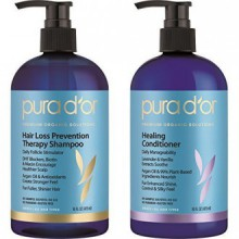 PURA D'OR Hair Loss Prevention Therapy Strengthen & Soothe Combo
