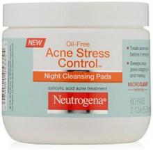 Neutrogena Acne Stress Pads Contrôle Nuit nettoyantes, 60 Count