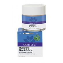derma e Nuit Hydratante Crème avec de l'acide hyaluronique