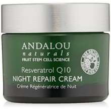 Andalou Naturals Resveratrol Q10 Night Repair Cream, 1.7 Ounce