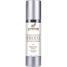 Art Naturals Facial Sunscreen SPF 30 & Hydratant Teinté / Anti Aging Cream - 1,5 oz Résistant à l'eau 80 Minutes - Fabriqué