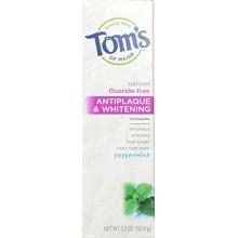 Tom du Maine Antiplaque et Whitening Toothpaste Fluoride-Free, menthe poivrée, 5.5 Ounce, paquet de 2