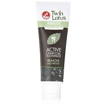 Twin Lotus charbon actif Dentifrice Herbaliste Triple Action 100g (3.52 Oz) X 1 Tube