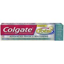 Colgate Total frais Advanced + Whitening Gel Dentifrice, 5,8 onces (pack de 2)