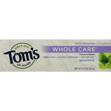 Tom du Maine Whole soins Fluoride Toothpaste Spearmint, 4.7 Ounce, 2 Count