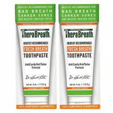 TheraBreath Dentiste recommandé haleine fraîche Bouche sèche Dentifrice, Doux Mint, 4 Ounce (Pack de 2)