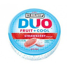 Ice Breakers DUO Fruit + Refroidir sucre menthes gratuit (fraise, Containers 1.3-Ounce, Paquet de 8)