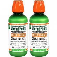 TheraBreath Dentiste Recommandé Fresh Breath Rinçage Oral - Mild Mint Flavor, 16 Ounce (Pack de 2)