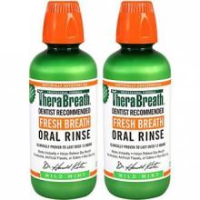 TheraBreath Dentiste Recommandé Fresh Breath Rinçage Oral - Mild Mint Flavor, 16 Ounce (Pack de 2)