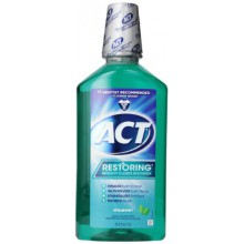 ACT Restaurer Anti Cavity Fluoride Mouthwash Spearmint, 33,8 Bouteilles Ounce (pack de 3)