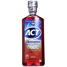 ACT Alcohol Free Anticavity Fluoride Rinse-Cinnamon-18 oz, 2 pk