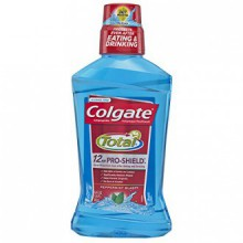 Colgate Total Advanced Pro-Shield Mouthwash, Peppermint, 16.9 fl oz (Pack of 6)