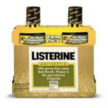 Listerine Antiseptic Mouth Wash Original Flavor Bottle, 1.5 L, 2 Piece