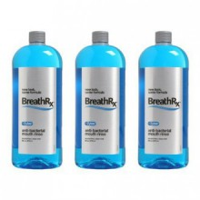 BreathRx Anti-bacterial Mouth Rinse, 3 Bottle Economy Pack (Each bottle is 33 oz)