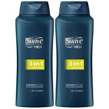 Suave Men 3-in-1 Shampoo + Conditioner + Body Wash - Citrus Rush - 28 oz - 2 pk