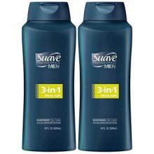 Suave Men 3-in-1 Shampoo + Conditioner + Body Wash - Citrus Rush - 28 oz - 2 pk