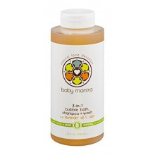 Baby Mantra 3-in-1 Bubble Bath, Shampoo + Wash with Lavender Oil & Aloe