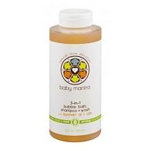 Baby Mantra 3-in-1 Bubble Bath, Shampoo + Wash with Lavender Oil & Aloe