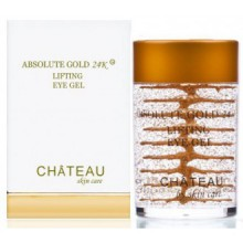 Absolute or 24K Lifting Eye Gel - or 24 carats, PEPTIDES SOIE et l'acide hyaluronique. 1 fl.oz-30 ml. (Sans parfum,