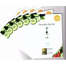 Cucumber Eye Gel Card Sample Set of 6 Travel Size