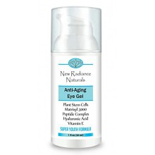 New Radiance Naturals - GUARANTEED Best Eye Gel Cream With Plant Stem Cells + Matrixyl 3000 + Hyaluronic Acid + Cucumber +