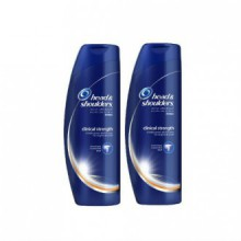 Head & Shoulders Clinical Strength Dandruff and Seborrheic Dermatitis Shampoo 13.5 Fl Oz (Pack of 2)