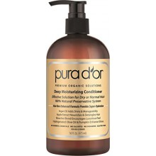 PURA D'OR Profond Hydratant premium Organic Argan Oil & Aloe Vera Conditioner, 16 Fluid Ounce